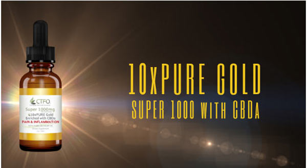 10xPure Gold Super 1000 with CBDa