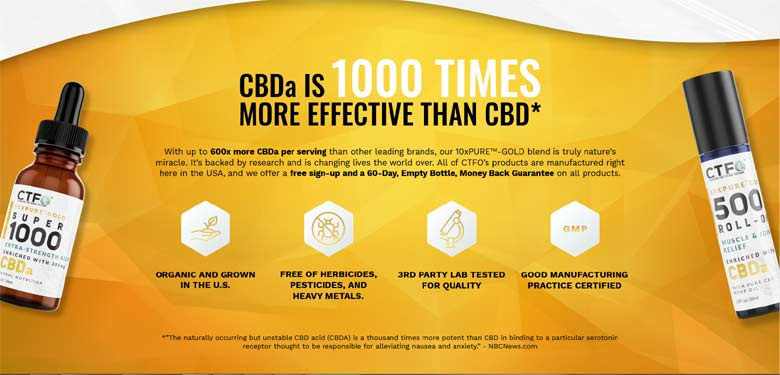 CTFO CBDa 1000x More Potent than CBD