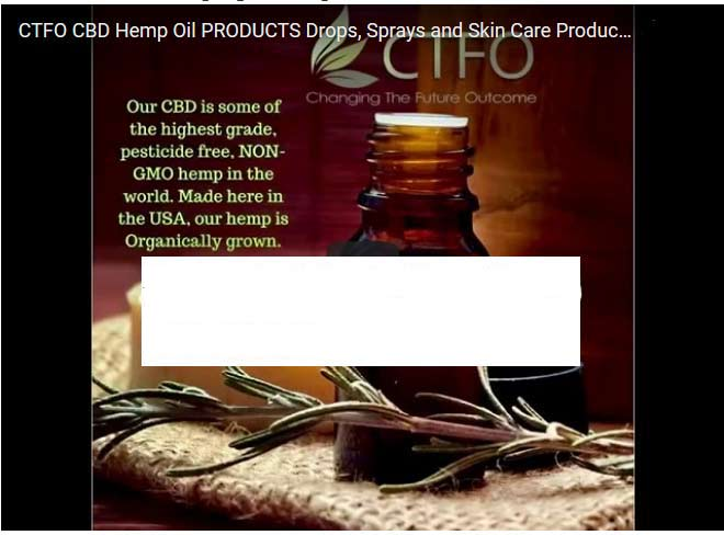 CTFO CBD Hemp Oil results