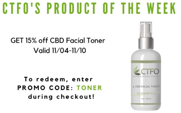 CTFO Product Of The Week Special CBD Facial Toner