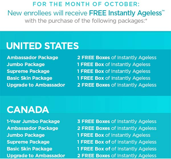 Jeunesse Free Instantly Ageless promotion.