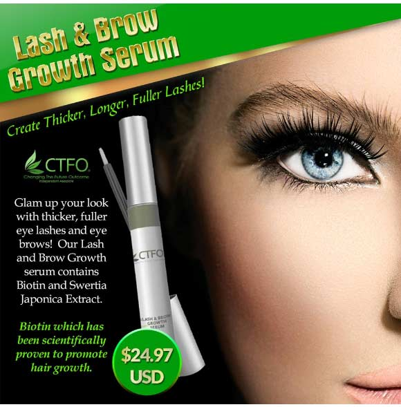 CTFO CBD Oil Eye Lash and Brow Growth Serum