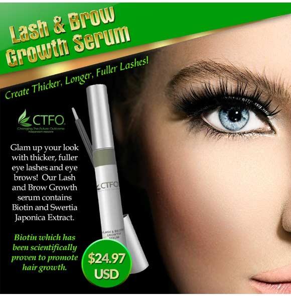 CTFO CBD Oil Eye Lash and Brow Growth Serum