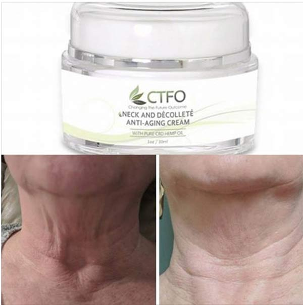 CTFO CBD Hemp Oil Neck and Decolette Cream results