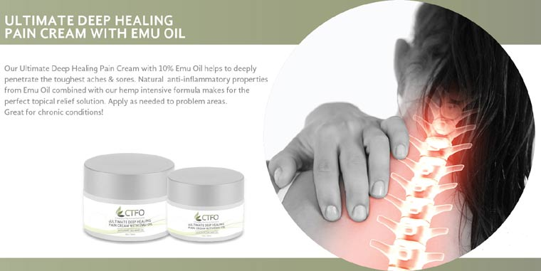 CTFO CBD Ultimate Deep Healing Pain Cream with Emu Oil