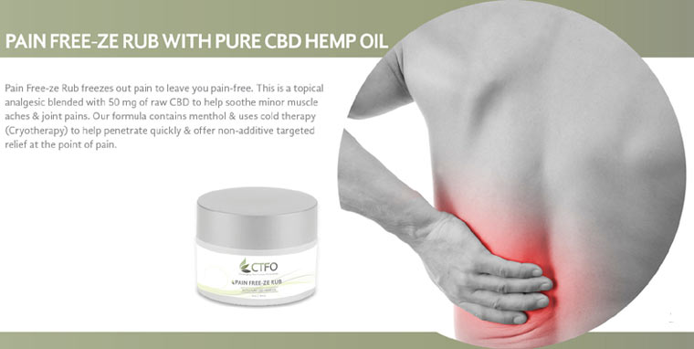 CTFO Pain Free-Ze Rub with Pure CBD Hemp Oil