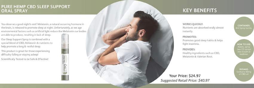 Buy CTFO CBD Hemp Oil Sleep Support Oral Spray