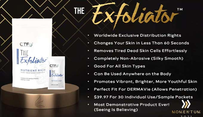 CTFO's Exclusive Breakthrough Skin Care product The Exfoliator